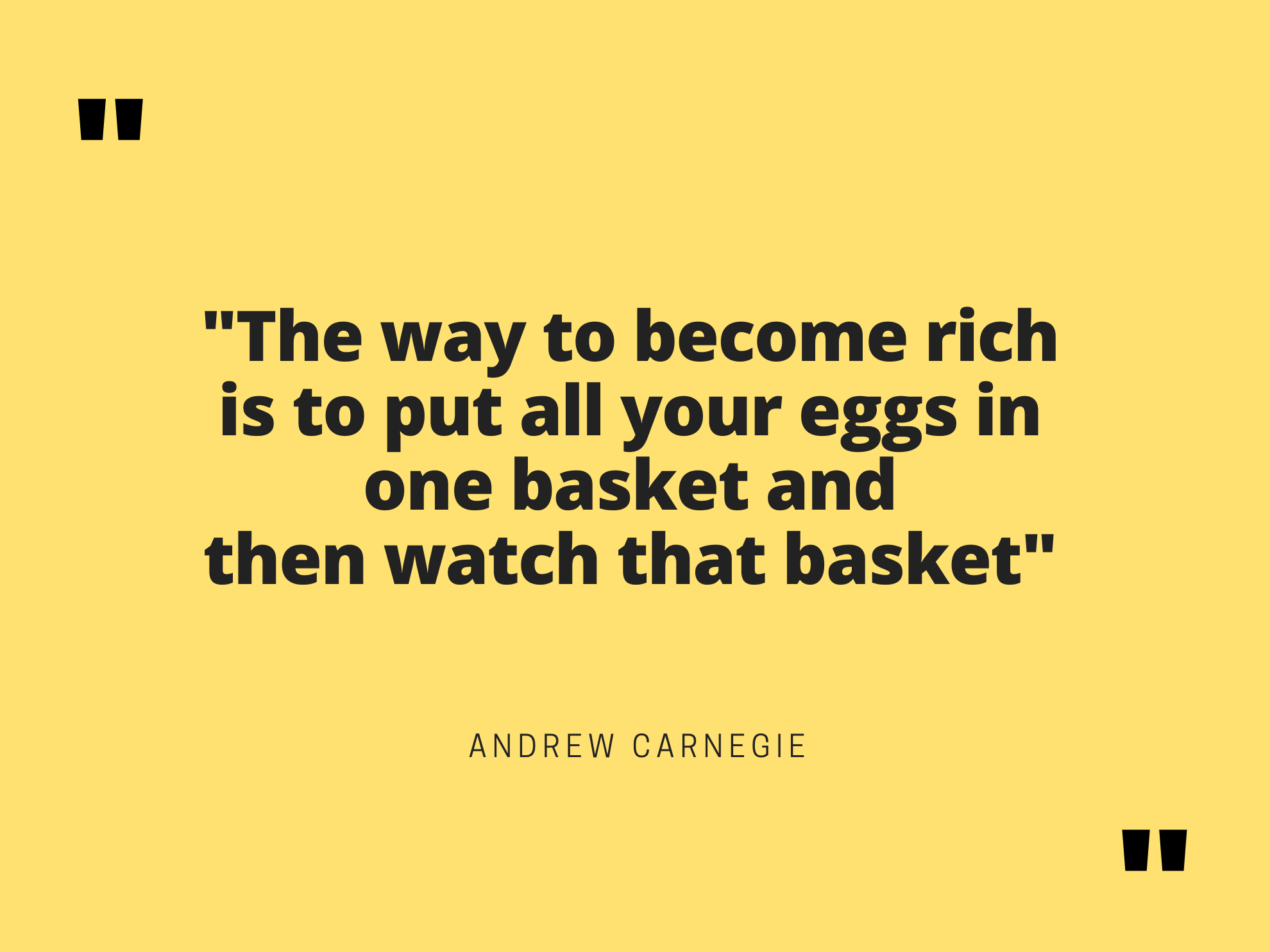 """The way to become rich is to put all your eggs in one basket and then watch that basket"" Andrew Carnegie Risk management in personal financial planning is all about understanding what risks your are taking and for what potential gain. Diversify too much and you will never have exceptional gains. Concentrate in excess, and you might end up taking more risks and you should."